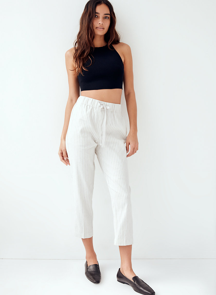KEVIN KNIT TOP - Cropped, knit halter top
