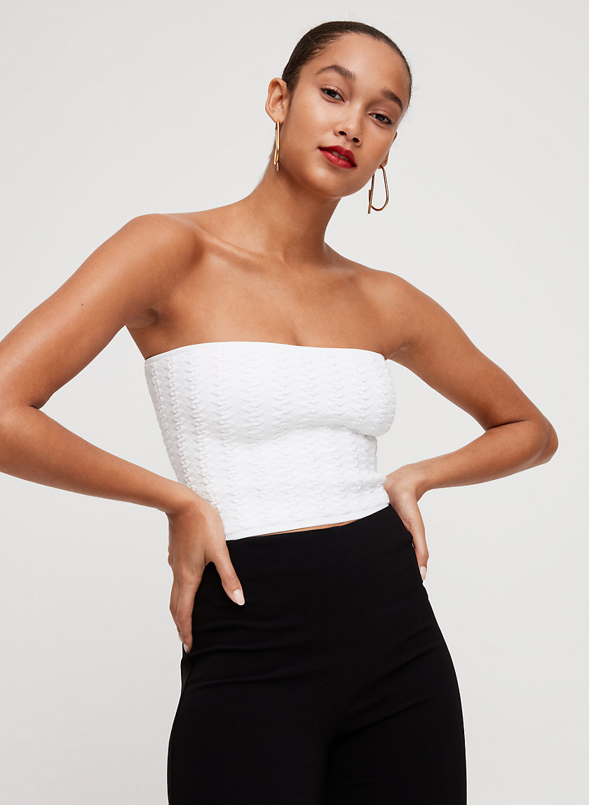 ESSAMBA TUBE TOP - Ribbed, knit tube top