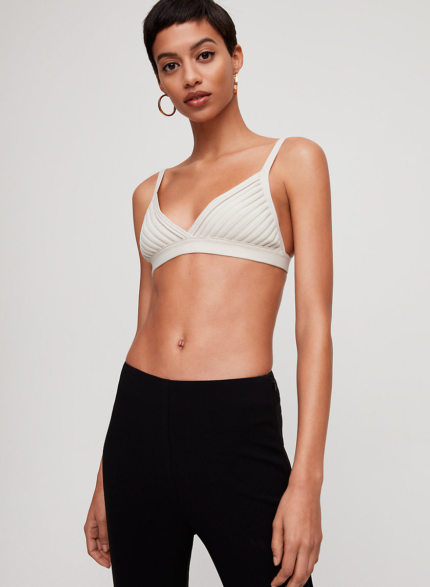 SCULPT KNIT BRA TOP - Knitted bralette top