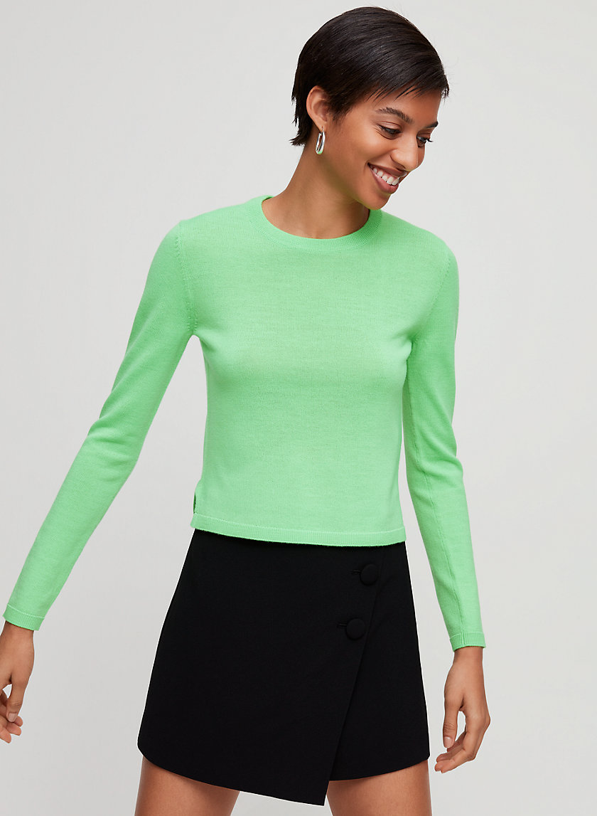 NATHANIEL SWEATER - Cropped, neon sweater