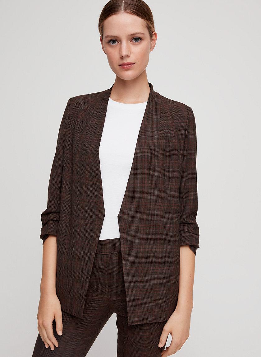 MACAULEY BLAZER - 3/4 sleeve plaid blazer