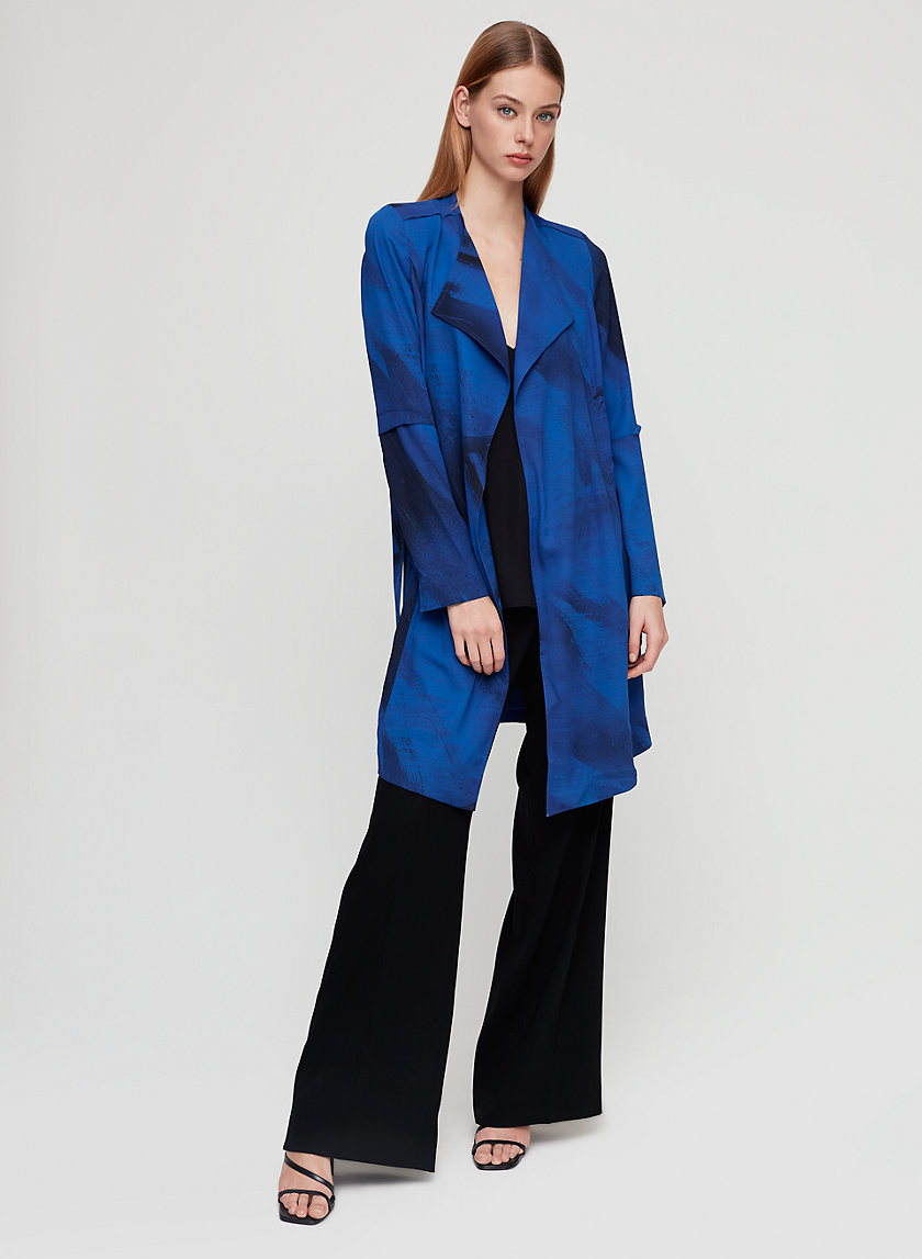 QUINCEY JACKET - Printed, modern trench coat