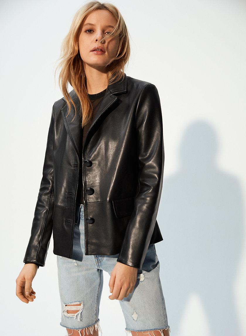 DONOVAN JACKET - Leather Blazer Jacket