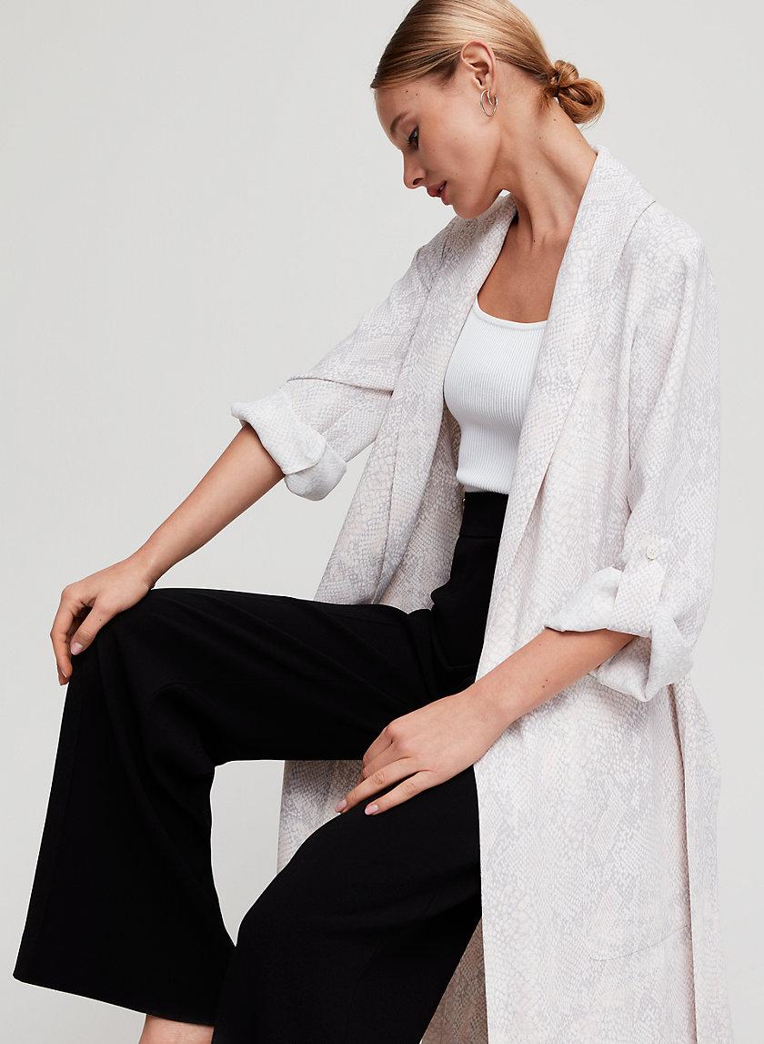 KAHLO ROBE - Snake print, robe-style jacket