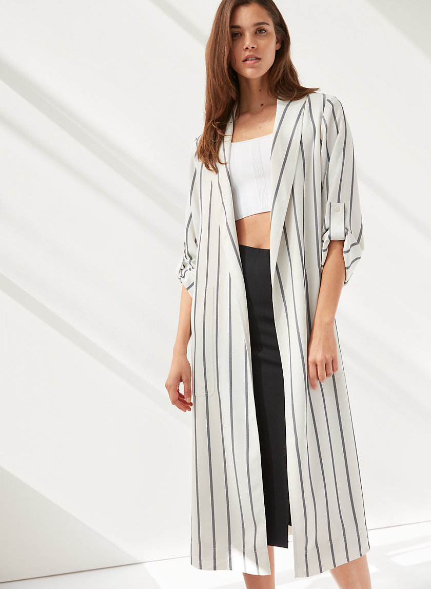 KAHLO ROBE - Striped robe jacket
