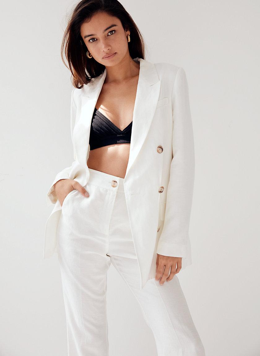 SAMUEL LINEN BLAZER - Double-breasted linen blazer