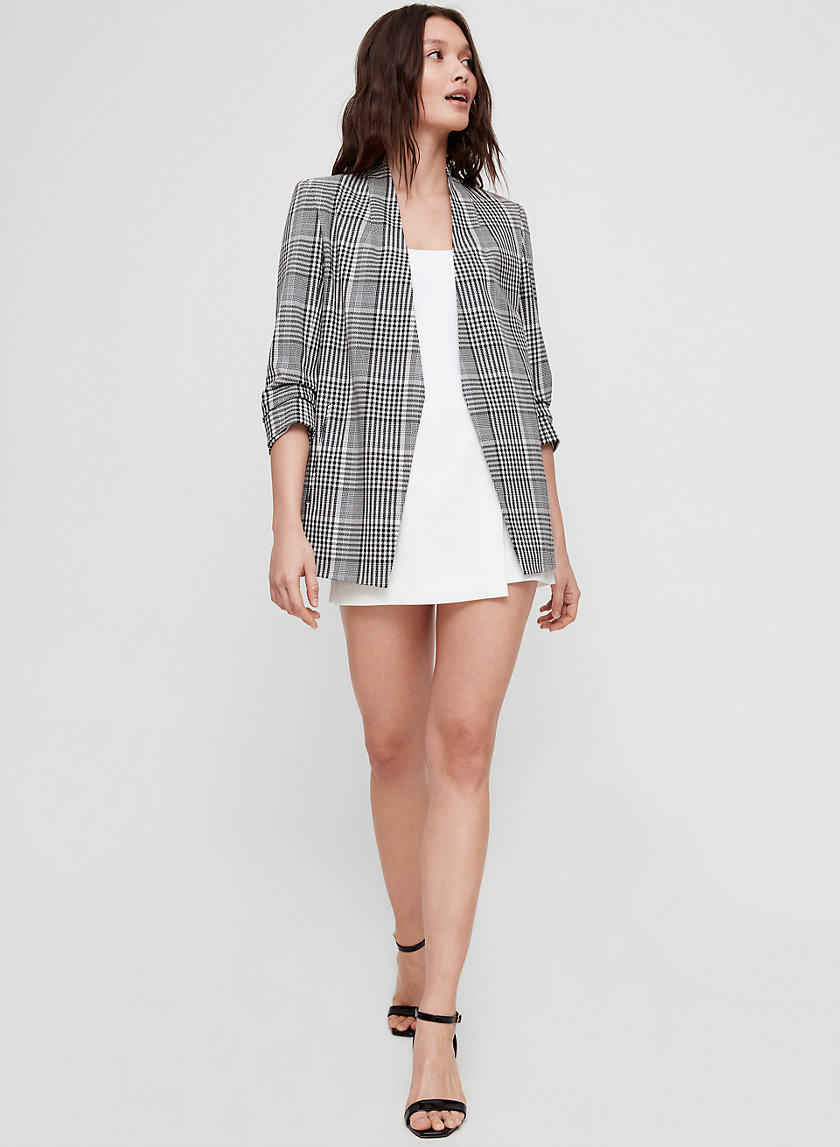 MACAULEY BLAZER - 3/4 sleeve plaid blazer
