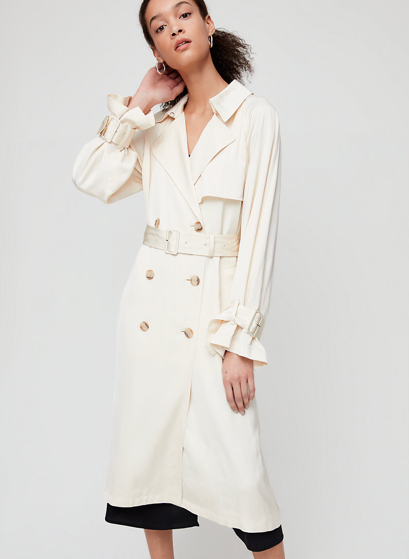 CARSON TRENCH COAT - Drapey, relaxed-fit trench coat