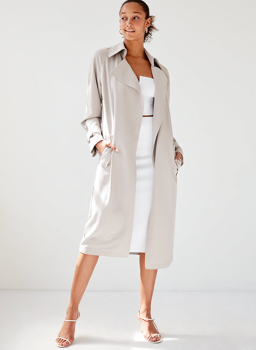 LAWSON TRENCH COAT - Open front, flowy trench coat