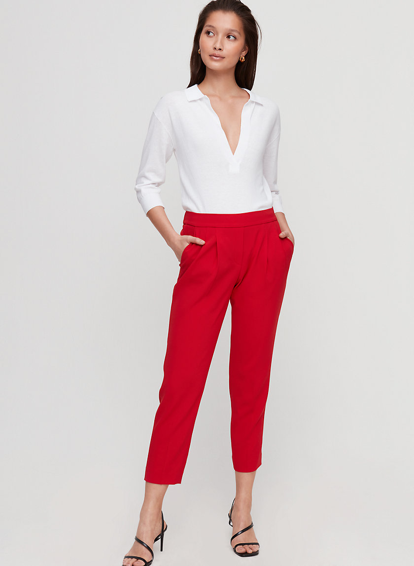 COHEN PANT TERADO - Cropped, pleated dress pant