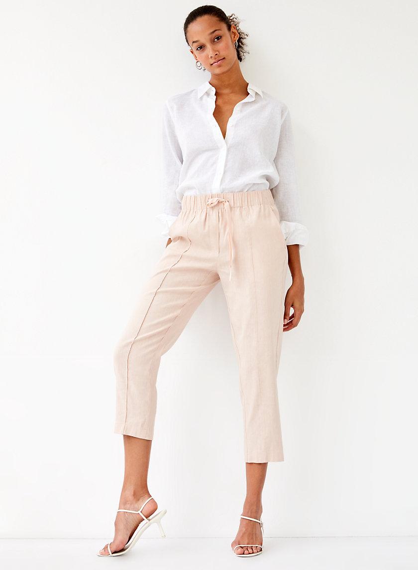 ERROL PANT - Linen-blend, drawstring pant