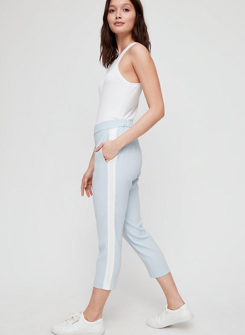 CONAN PANT TERADO - Cropped dress pant with side stripe