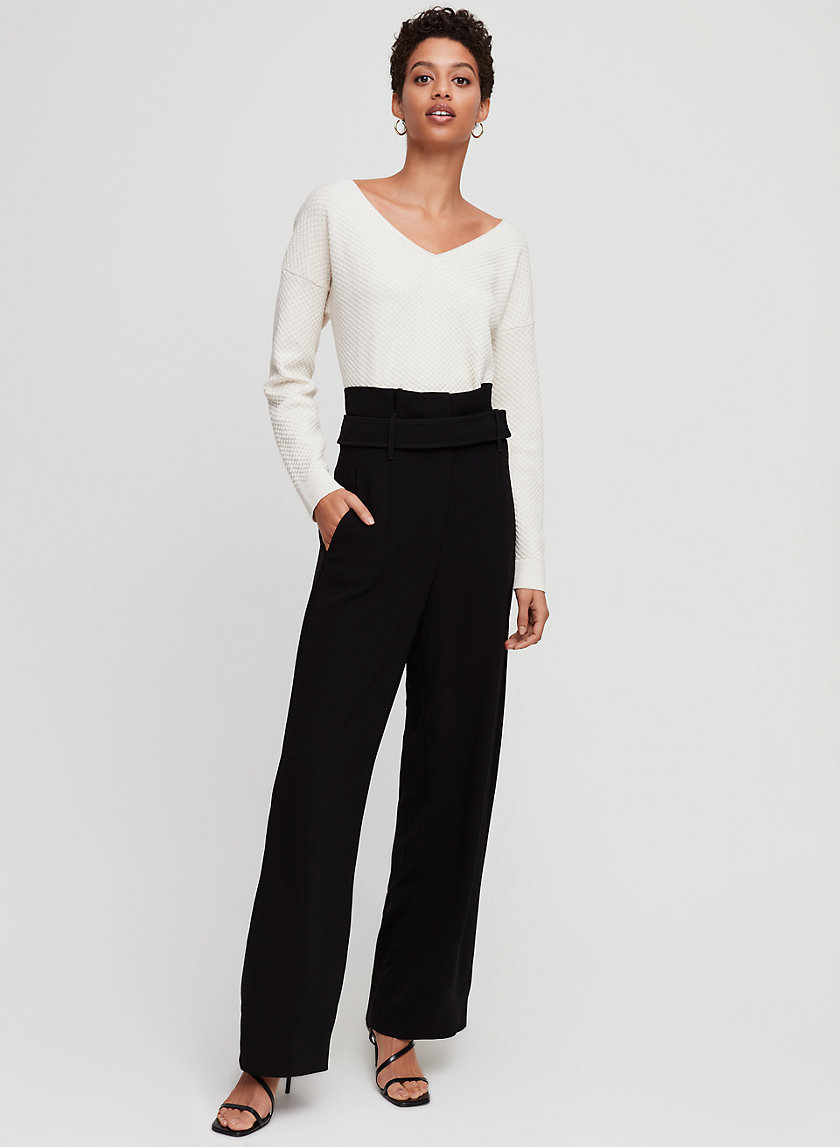 JERMAINE PANT - High-waisted, wide-leg pant