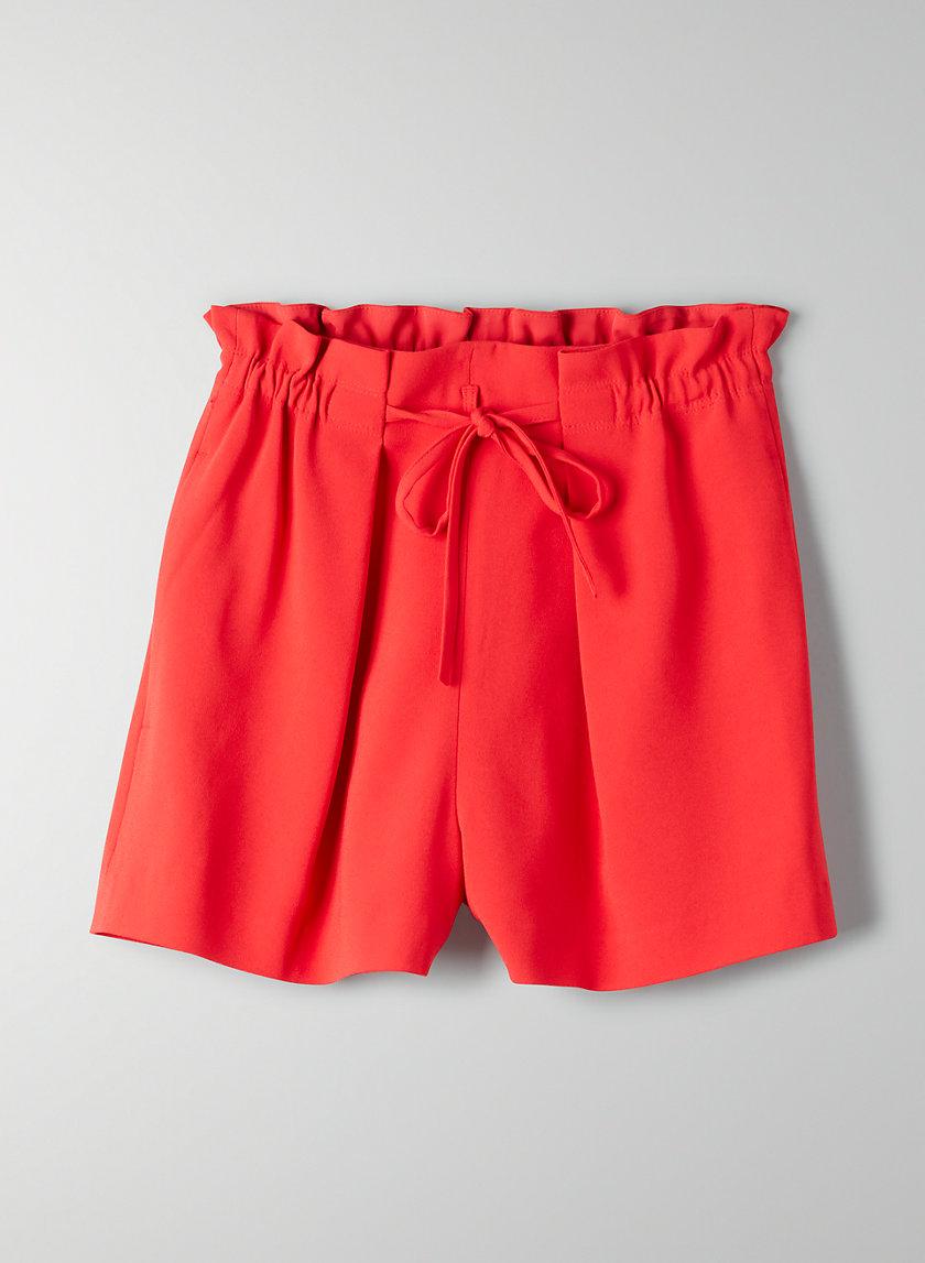 SALIM SHORT - High-waisted paperbag shorts