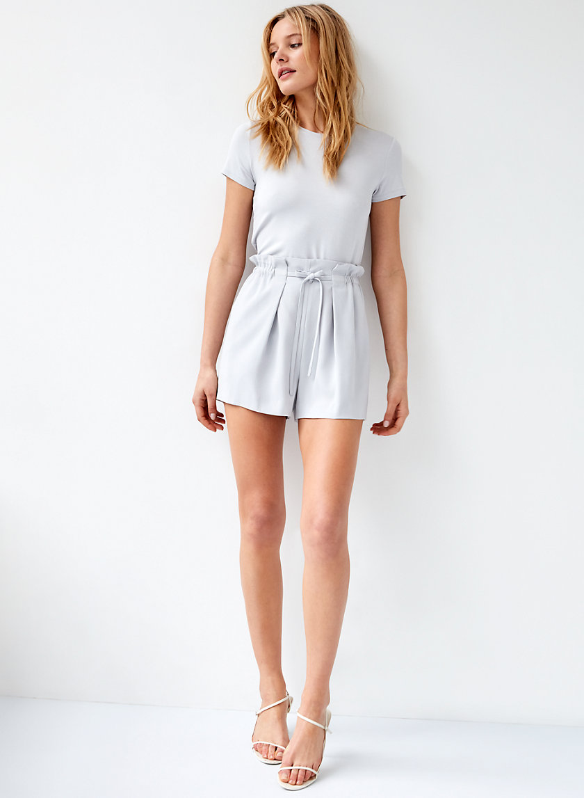 SALIM SHORT - High-waisted paperbag shorts