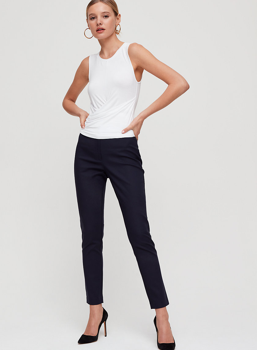 LUCERO PANT - Cropped, tapered dress pant