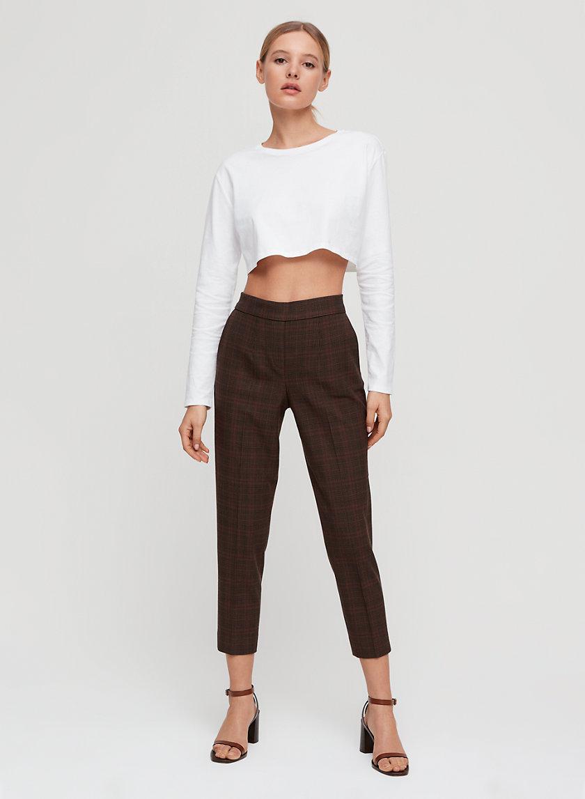 CONAN PANT - Plaid cropped dress pant