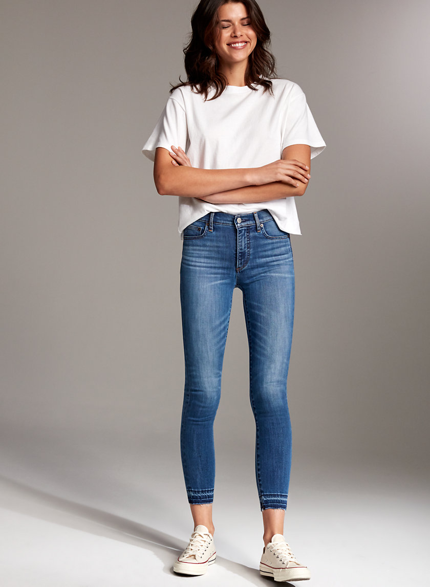 Denim Forum THE NICO MID CROP | Aritzia