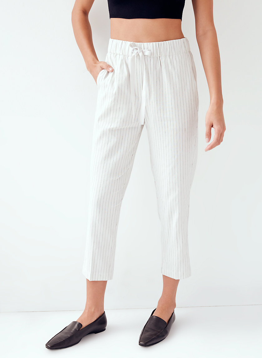 ERROL PANT - Striped, linen-blend pant