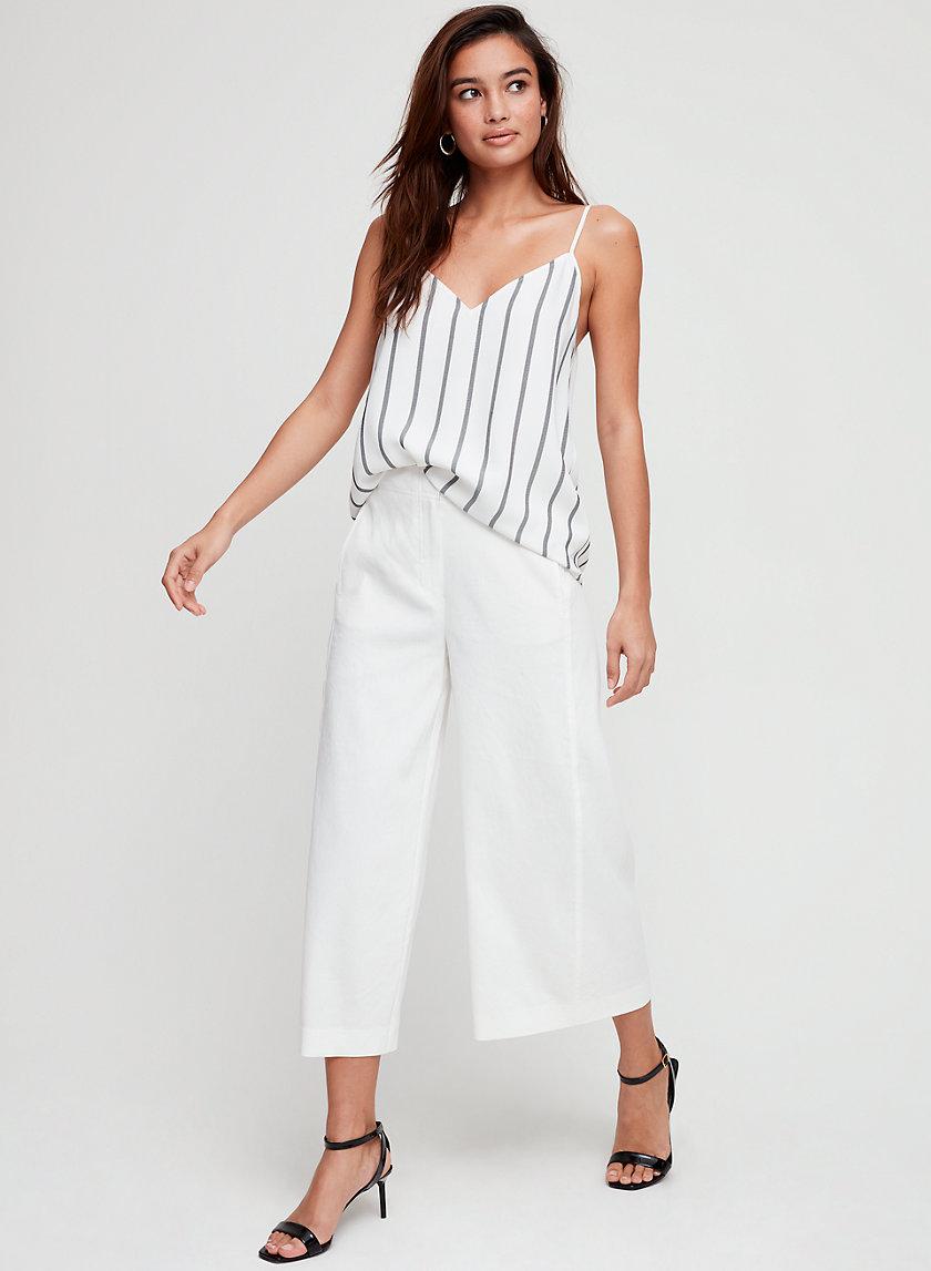 HALTON PANT - Wide-leg, linen-blend pant