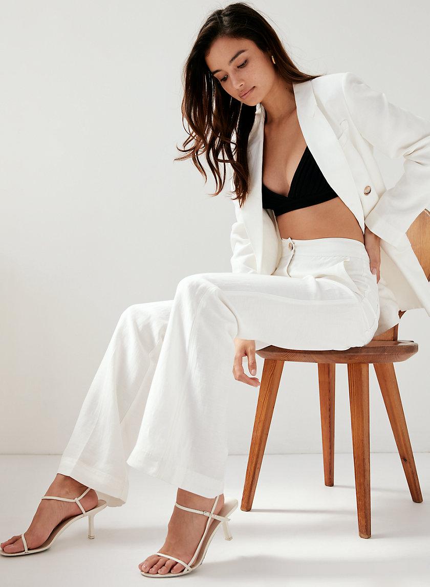 DARA PANT - High-waisted linen trouser