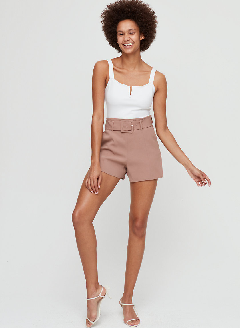 NIX SHORT - High-waisted belted shorts
