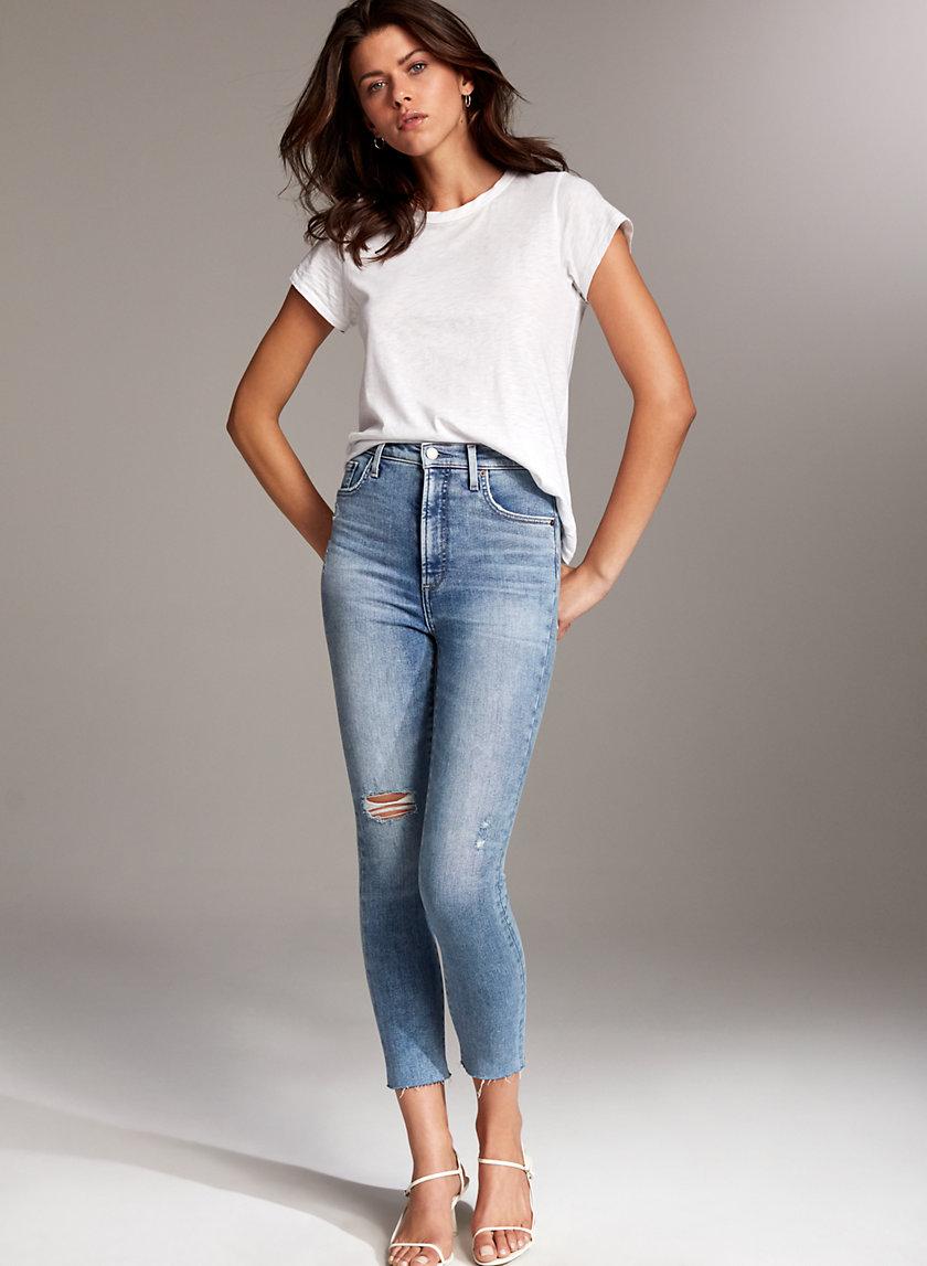 THE LOLA HIGH CROP - High-waisted skinny jean