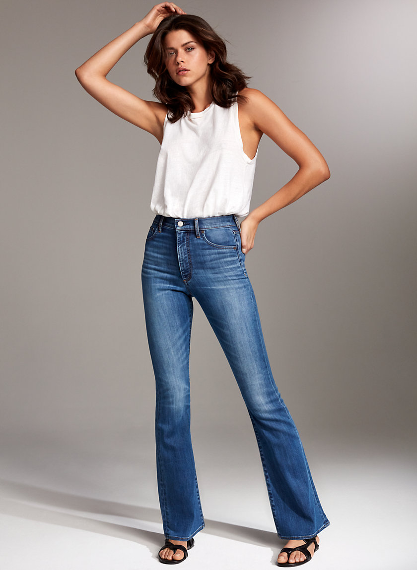THE JANE HIGH FLARE - High-waisted flared jean