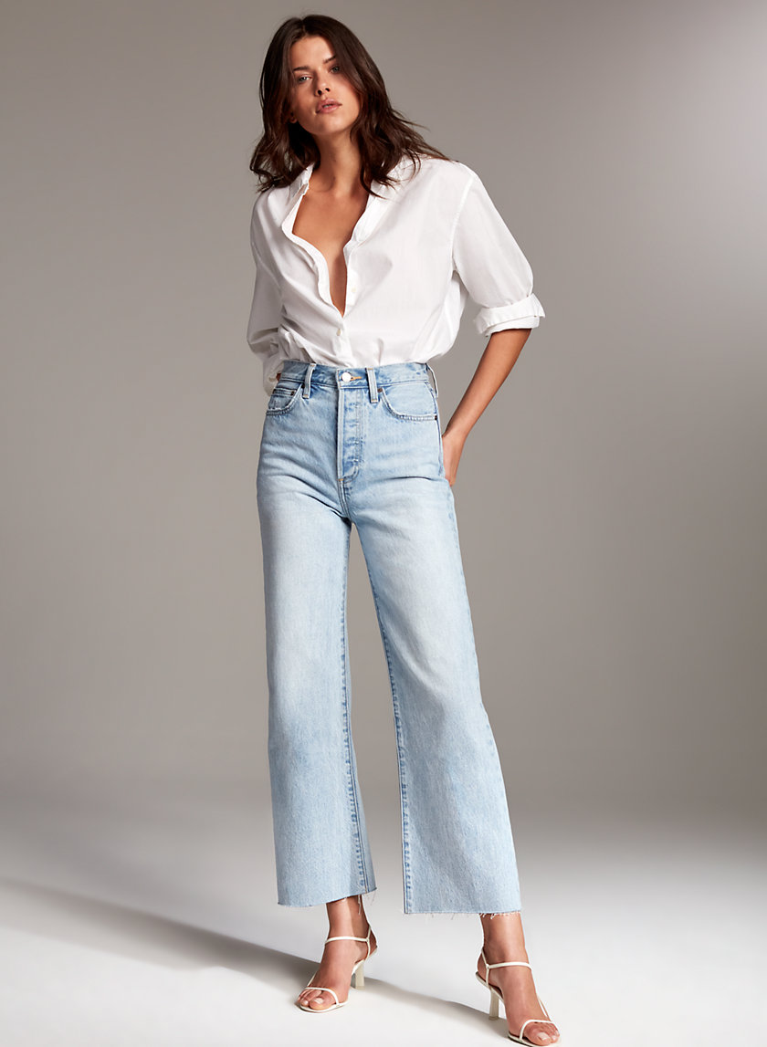 Denim Forum THE FARRAH WIDE LEG | Aritzia