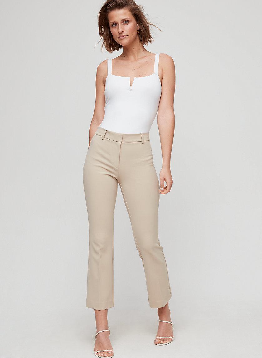 ROWAN PANT - Cropped kick flare trouser