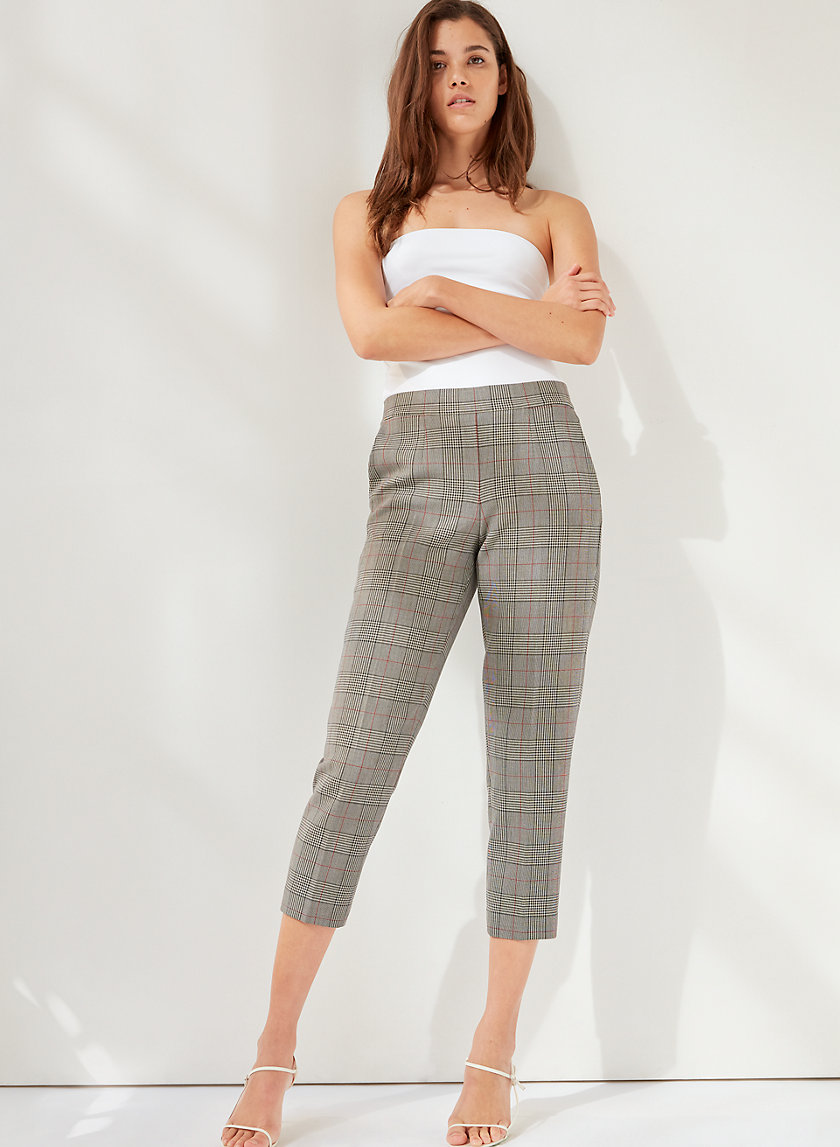 CONAN CHECK PANT - Cropped checked trousers