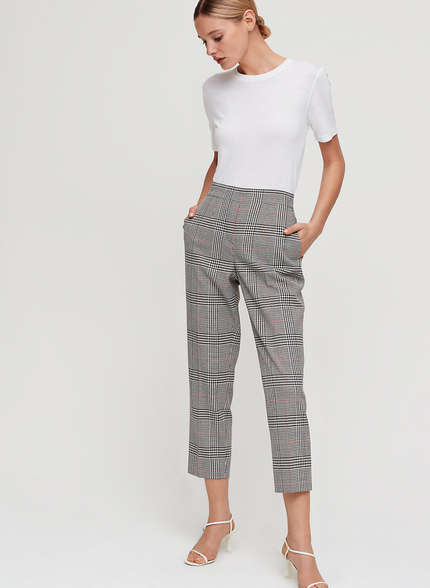 CONAN PANT - Cropped, plaid dress pant