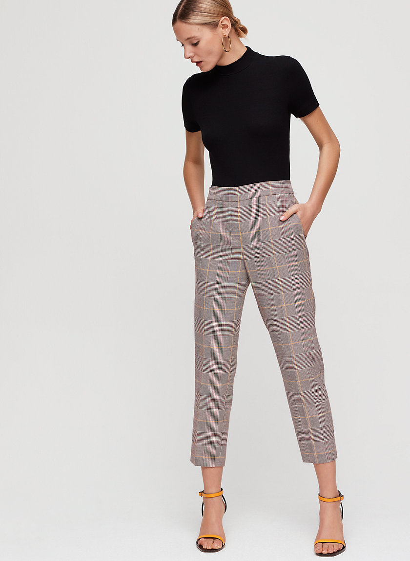 CONAN PANT - Cropped, checkered dress pant