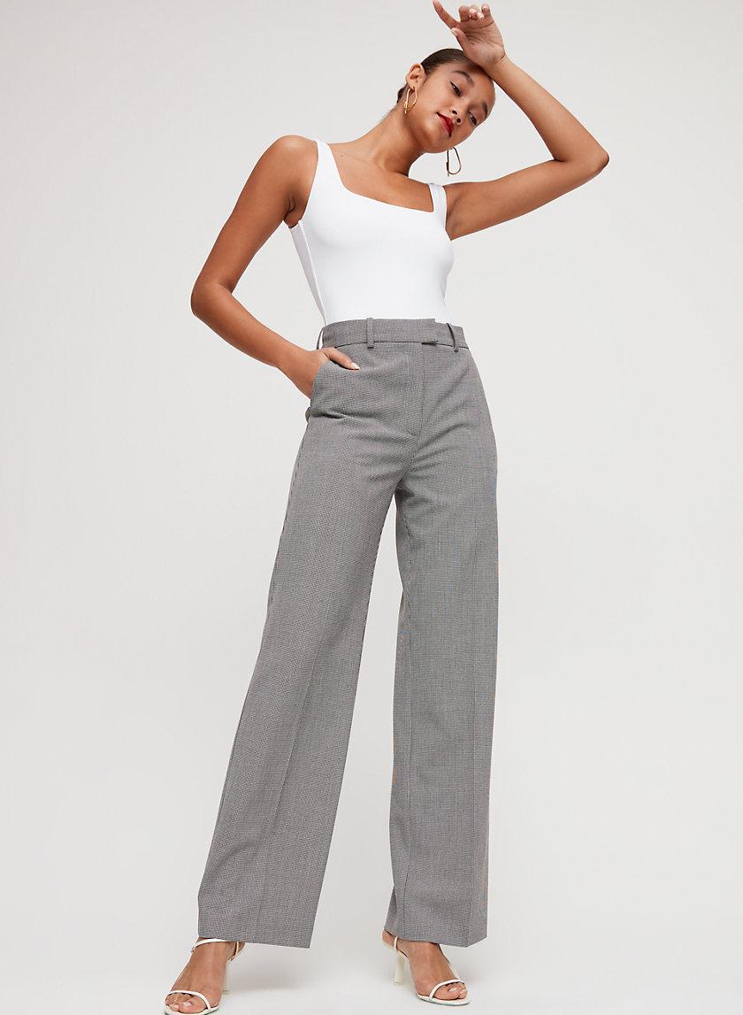 SADIKI PANT - High-waisted, wide-leg trouser