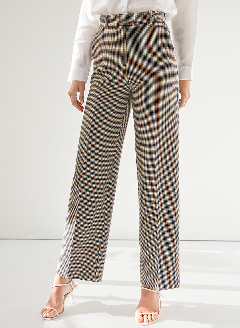SADIKI PANT - Checkered, wide-legged pants
