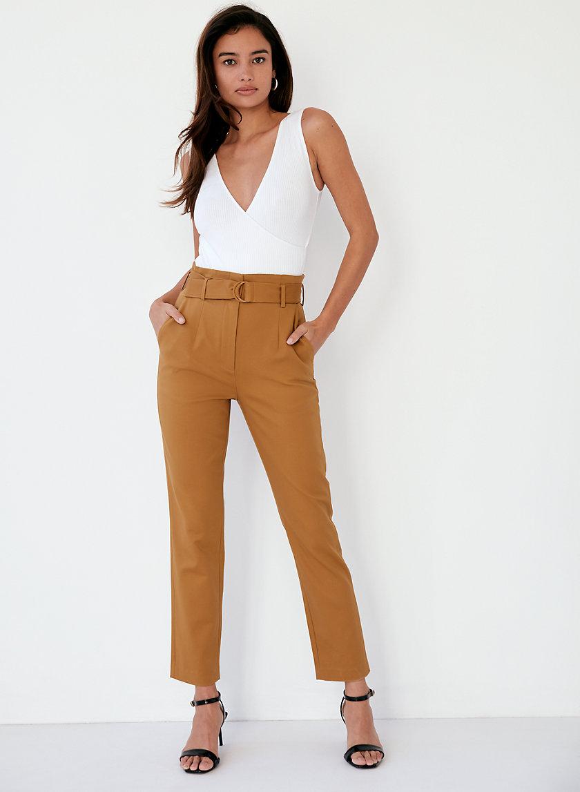 ZAYDEN PANT - High-waisted paper-bag pants