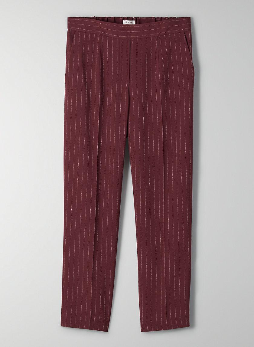 CONAN PANT - Cropped, pinstripe dress pant