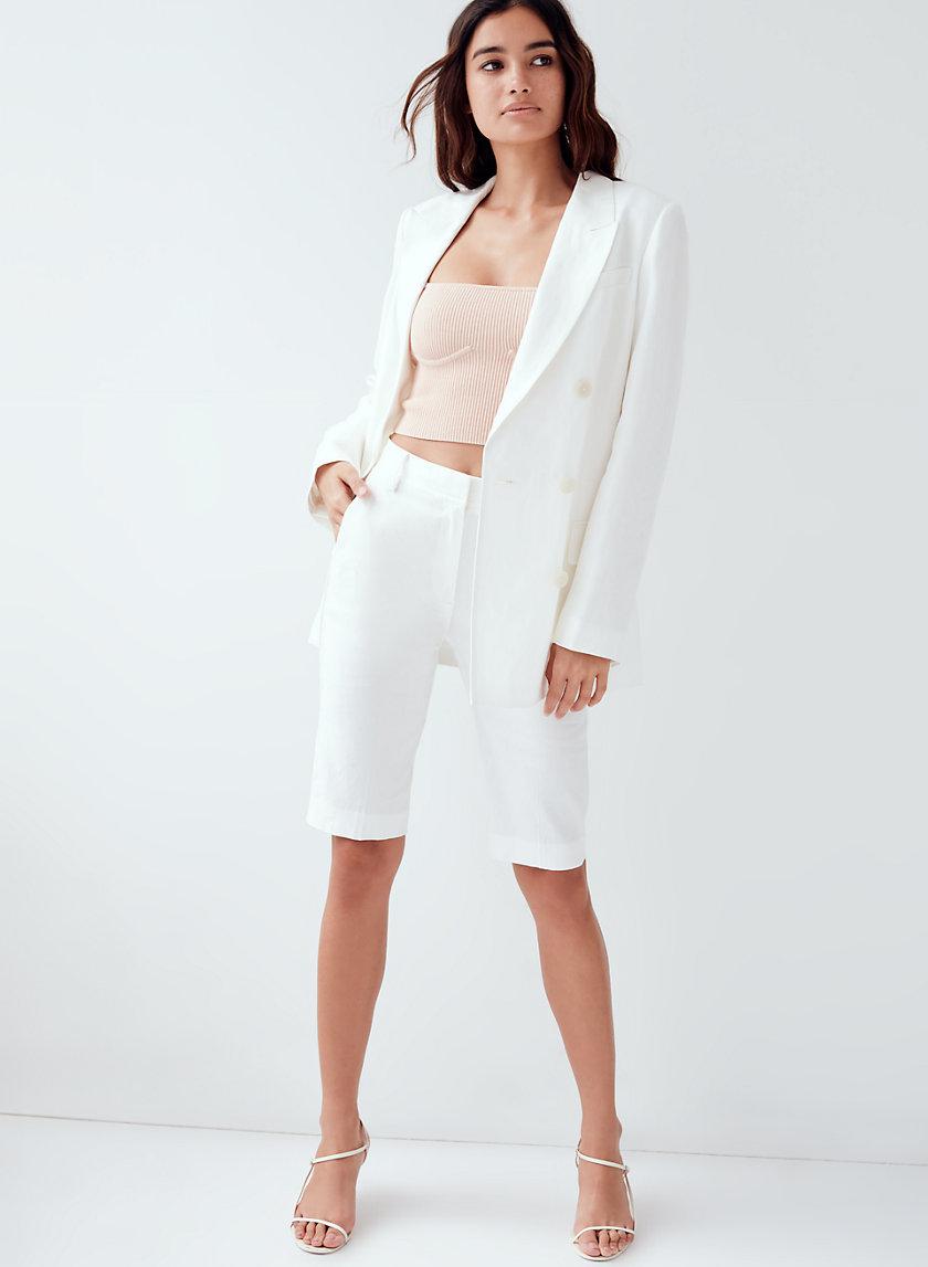 KADE SHORT - Linen-blend bermuda shorts