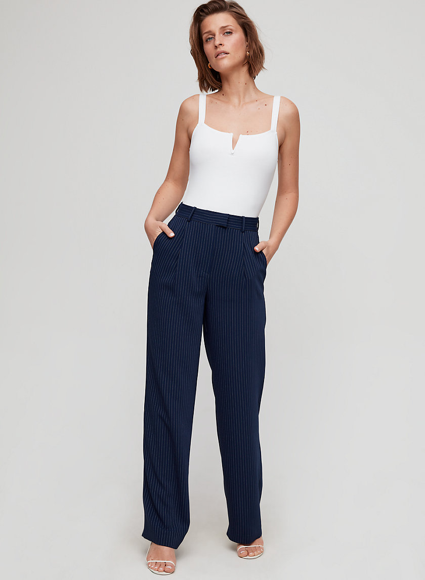 SADIKI PANT - Pinstripe, wide-legged pants