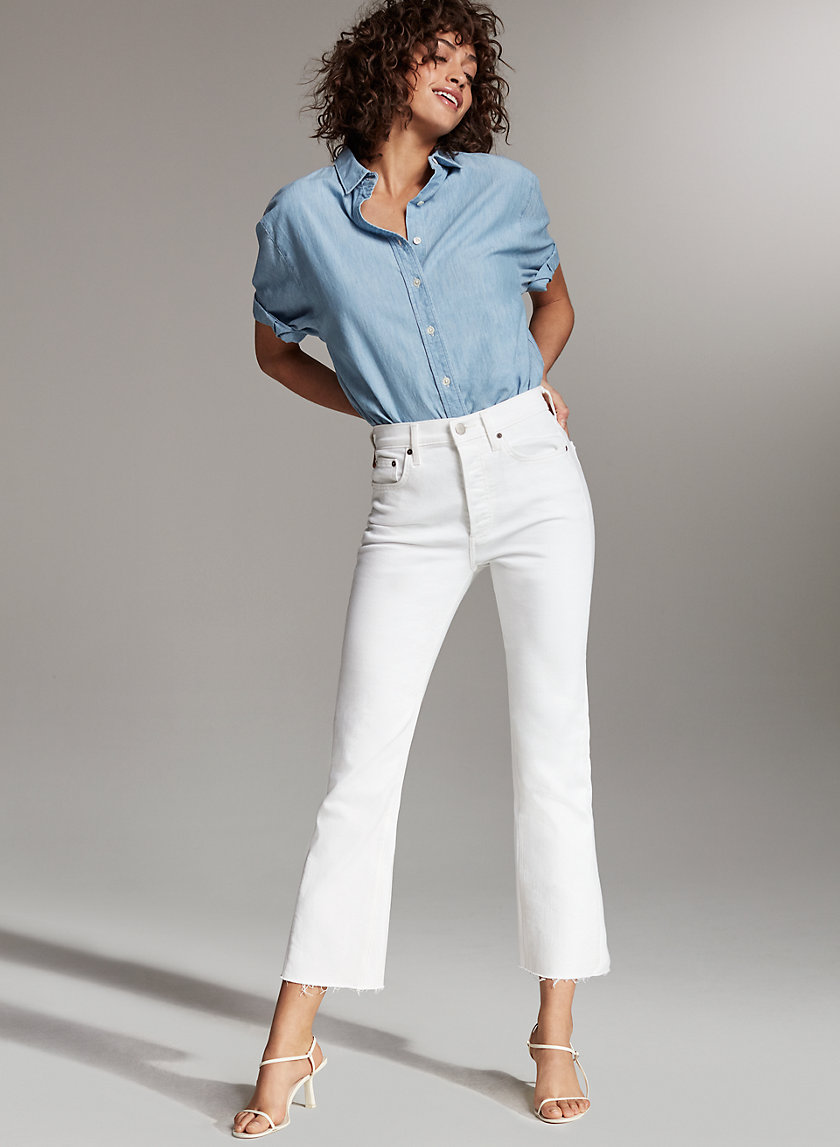 Denim Forum THE BAILEY CROP FLARE | Aritzia