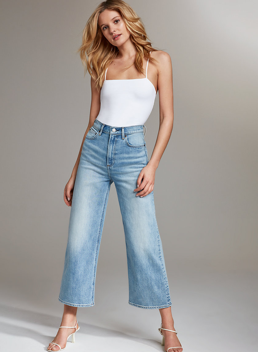 THE JOAN WIDE LEG - Cropped, wide-leg jeans