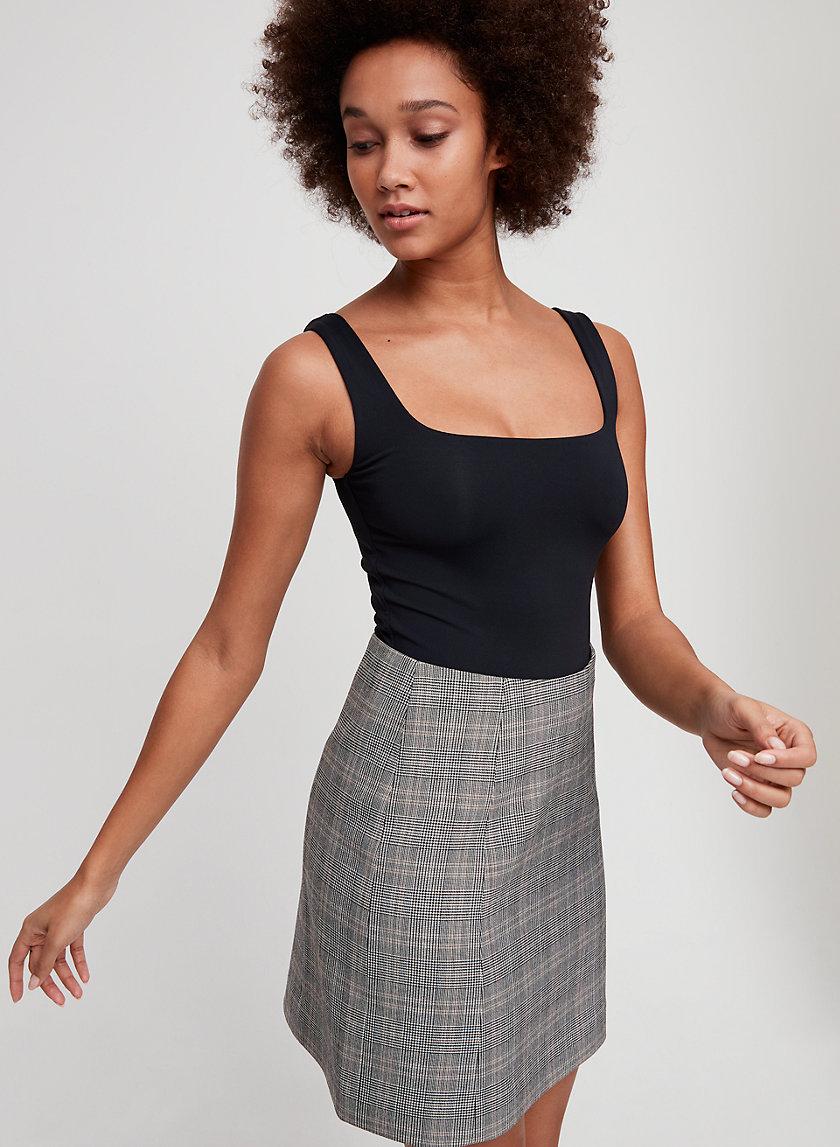 HOPPER CHECK SKIRT - Plaid, A-line mini skirt