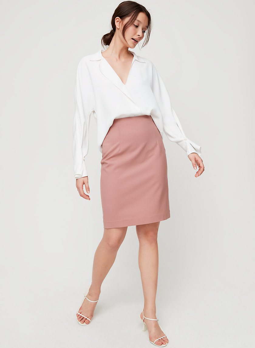 WALT SKIRT - Wool-blend pencil skirt