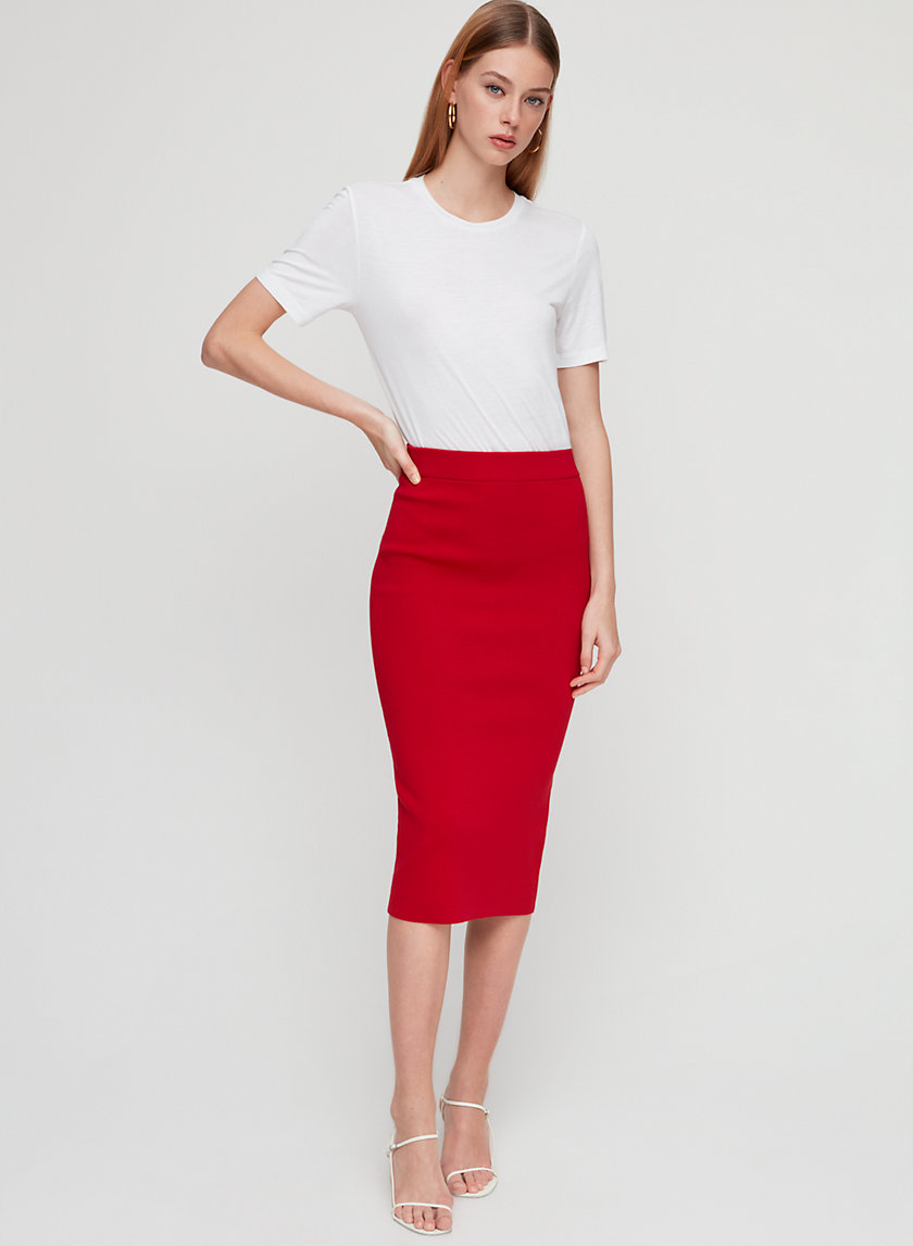 SCULPT KNIT TUBE SKIRT - Sculpting knit pencil skirt
