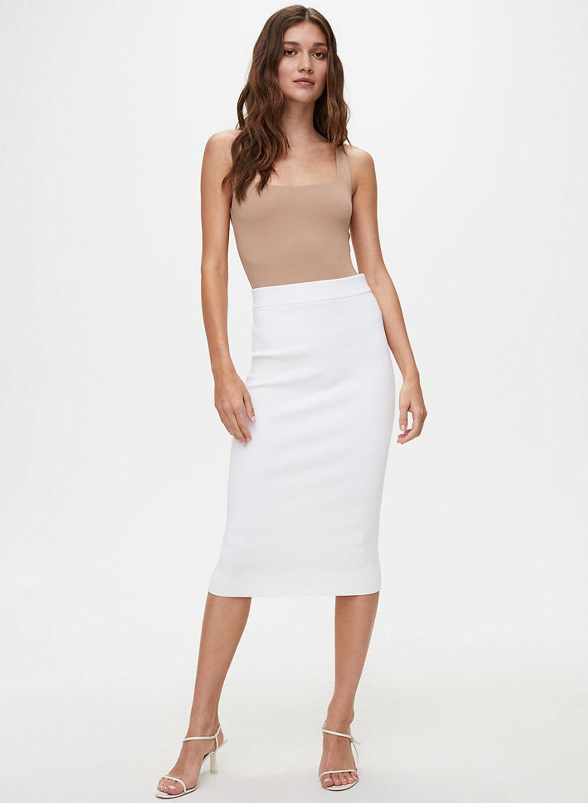 BODYCON TUBE SKIRT - Knitted pencil skirt