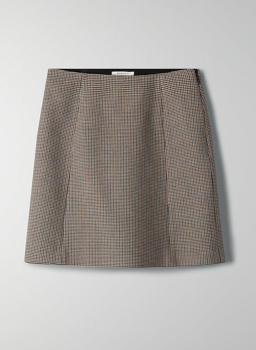 MODERN CHECK MINI SKIRT - Plaid A-line mini skirt