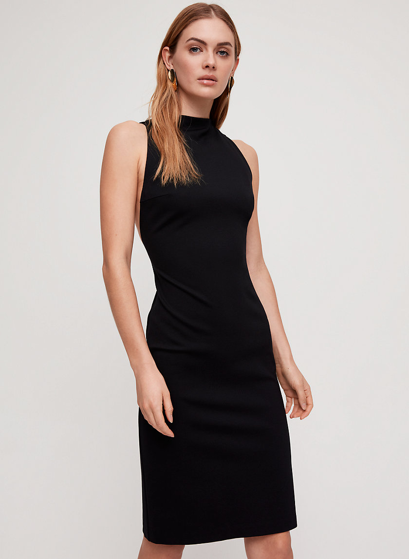 MATHESON DRESS - Fitted, mock neck dress