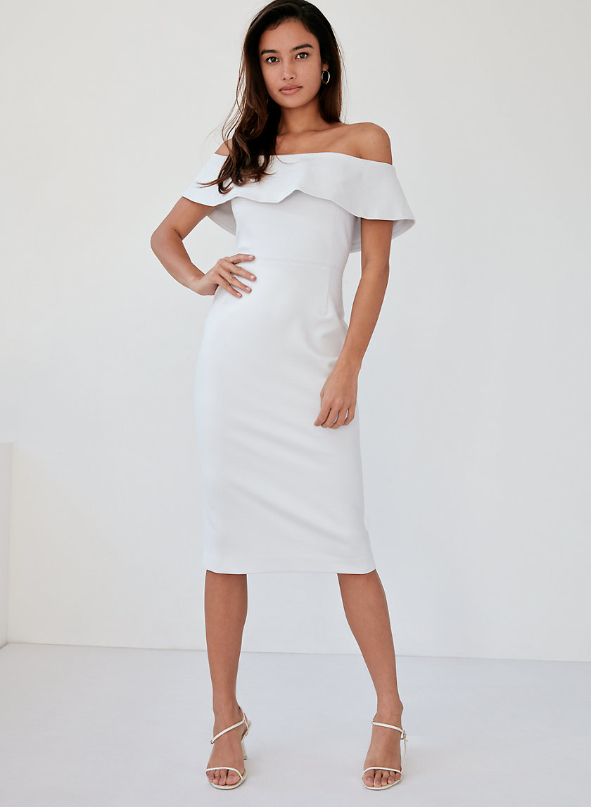 RUSLAN DRESS - Off-the-shoulder midi dress