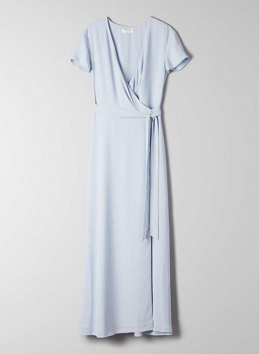 SLIT WRAP DRESS - Short-sleeve midi dress