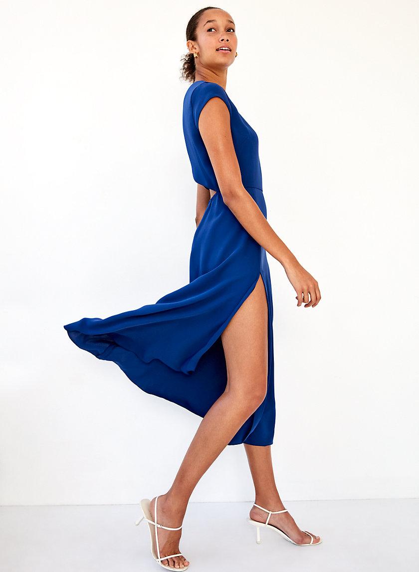 HAMPTONS DRESS - Midi dress with thigh slit